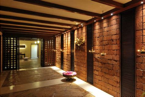 The entrance to the Ayur Spa, this wall feature is made