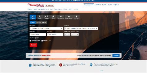 CheapTickets Cashback Offers, Discount Codes & Deals
