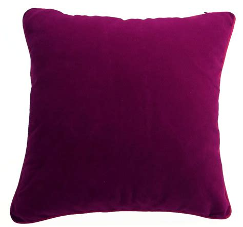 Mb61a Magenta Berry Pink Flat Velvet Style Cushion Cover