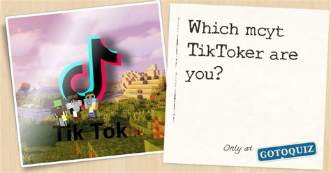 Which mcyt TikToker are you?