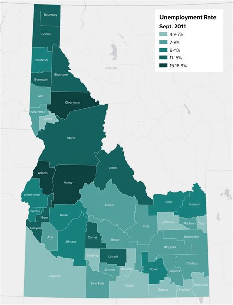Mapping Idaho's Unemployment Rate, County-by-County