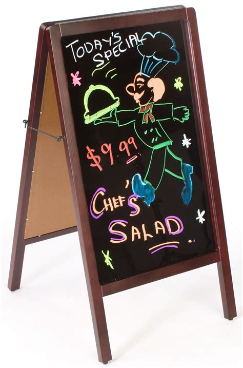 Chalkboard A-Frame | Double Sided Outdoor Menu Display