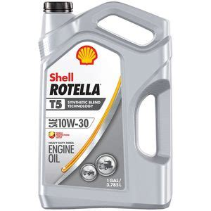 Shell Rotella T5 synthetic blend diesel engine oil 10W-30