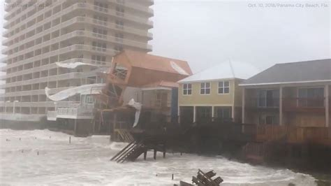Hurricane Michael 2018 video: Building partially collapses