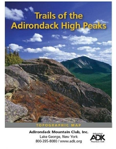 ADK Mtn Club Trails of the High Peaks Topographical Map
